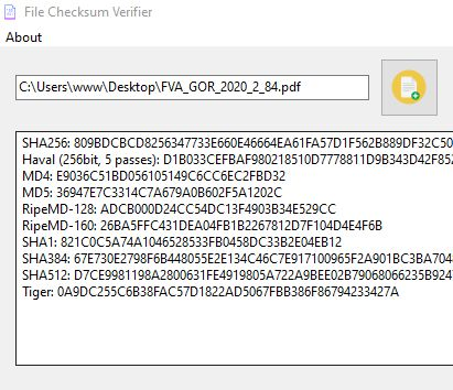 File Checksum Verifier